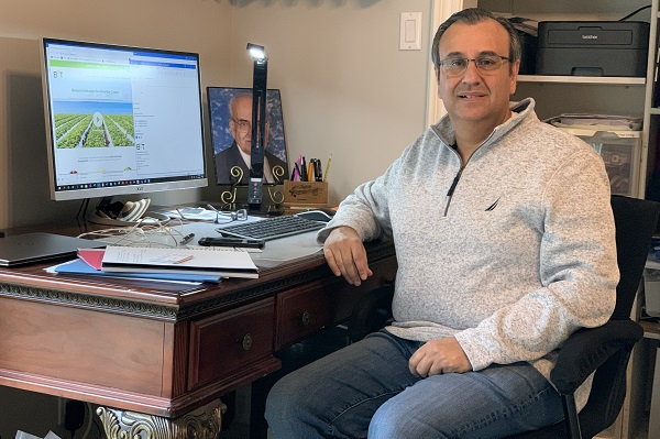 Ashish Malik in his home office